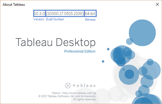 Finding Your Tableau Desktop or Tableau Server Version and