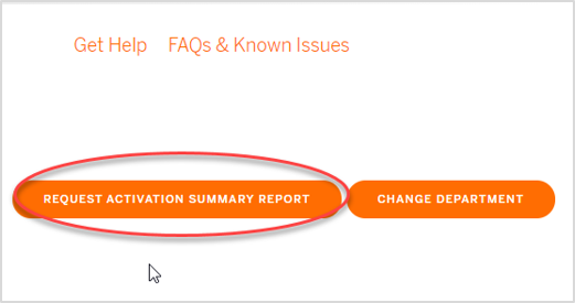 A close up of the Request Activation Summary Report button on the My Keys page.